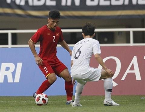 ASIAD 2018: le Vietnam battu 3-1 par la Republique de Coree en demi-finale des hinh anh 1