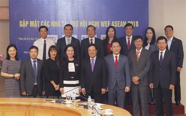 WEF ASEAN 2018 : Le vice-PM et ministre des AE Pham Binh Minh rencontre les sponsors hinh anh 1