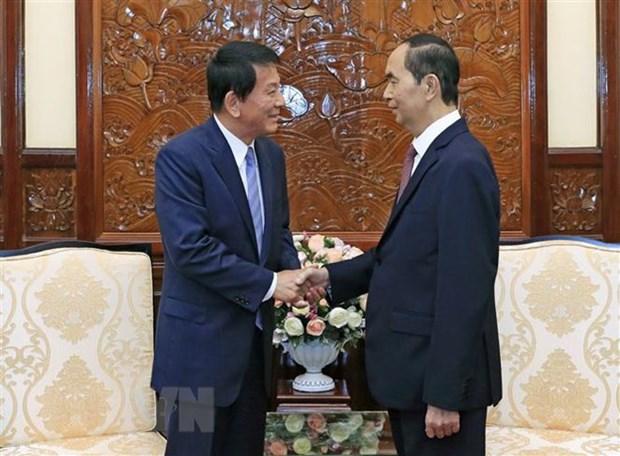 Le chef de l'Etat recoit l'ambassadeur special Vietnam-Japon, Japon-Vietnam hinh anh 1