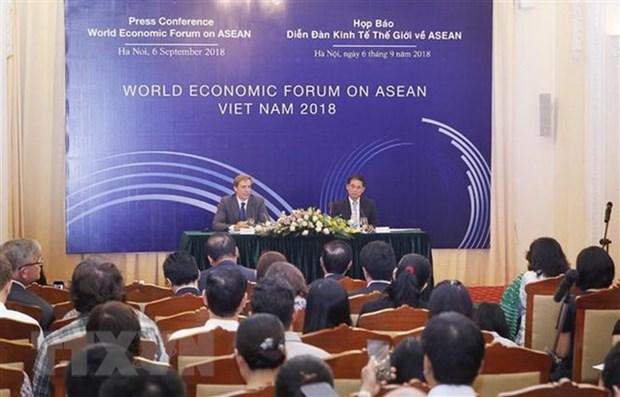 Conference de presse sur le Forum economique mondial sur l'ASEAN hinh anh 1