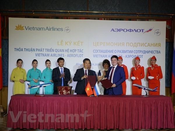 Celebration des 25 ans de l'ouverture de la ligne aerienne Vietnam-Russie hinh anh 1