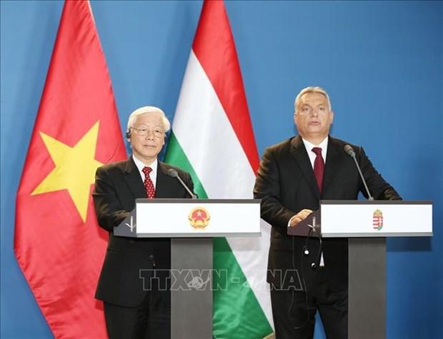Declaration commune Vietnam - Hongrie sur l'etablissement de leur partenariat integral hinh anh 1