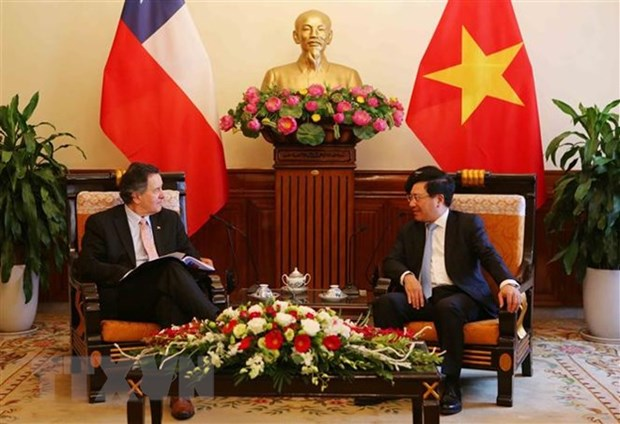 WEF ASEAN 2018 : le vice-PM Pham Binh Minh recoit des invites etrangers hinh anh 1