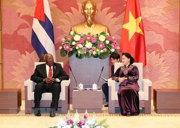 La presidente de l'AN rencontre le premier vice-president cubain hinh anh 1