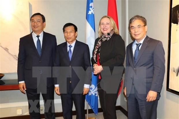 Renforcement de la cooperation entre le Vietnam et la province canadienne de Quebec hinh anh 1