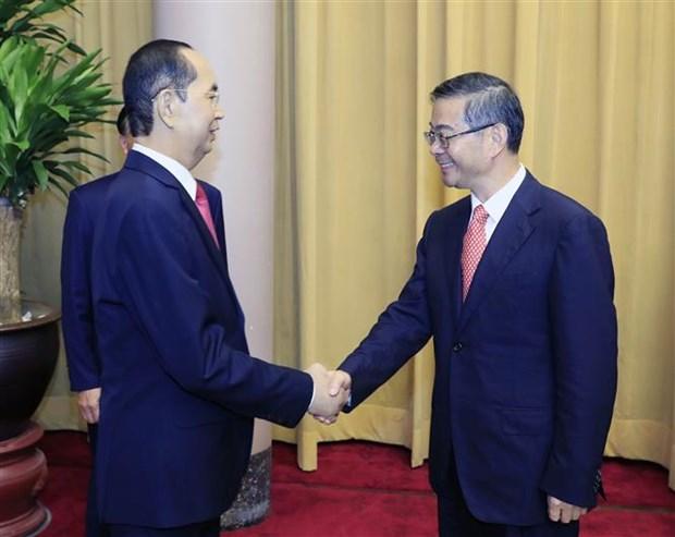 Le president Tran Dai Quang recoit le president de la Cour populaire supreme de Chine hinh anh 1
