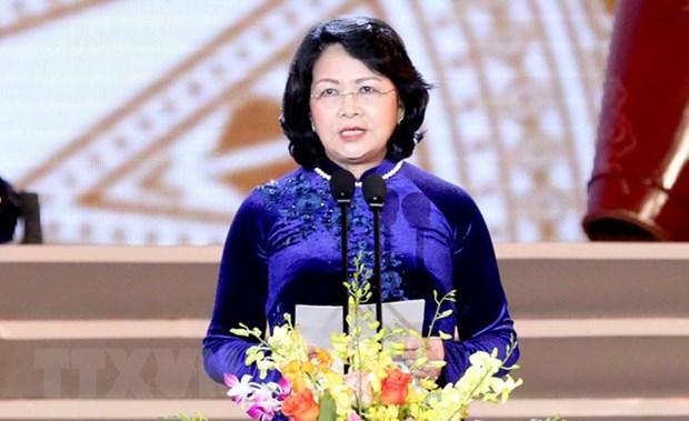 Dang Thi Ngoc Thinh assume la position de president p .i du Vietnam hinh anh 1