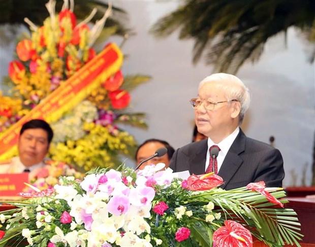 Le leader du PCV demande aux syndicats de renforcer leur efficacite operationnelle hinh anh 1