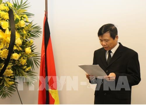 Ceremonie funeraire en memoire du president Tran Dai Quang a New York hinh anh 1