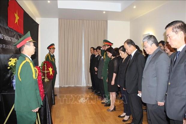 Des ceremonies funeraires a l'etranger en memoire du president Tran Dai Quang hinh anh 1