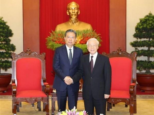 Le leader du Parti salue les bonnes relations entre le Vietnam et la Chine hinh anh 1