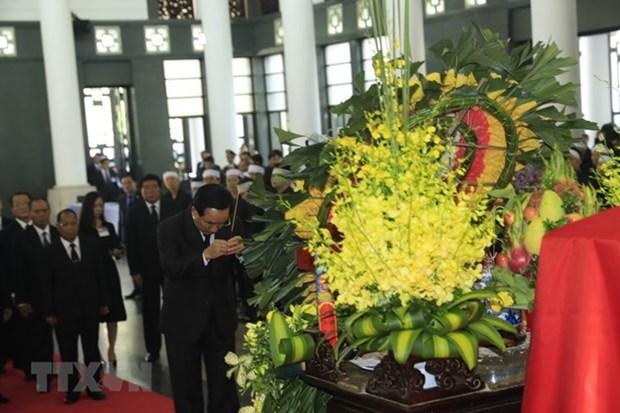 L'hommage des amis internationaux au president Tran Dai Quang hinh anh 2