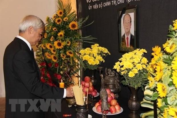 Ceremonies en memoire du president Tran Dai Quang en Espagne et au Venezuela hinh anh 1