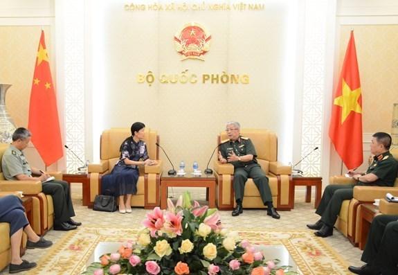 Promotion de la cooperation dans la defense entre le Vietnam et la Chine hinh anh 1