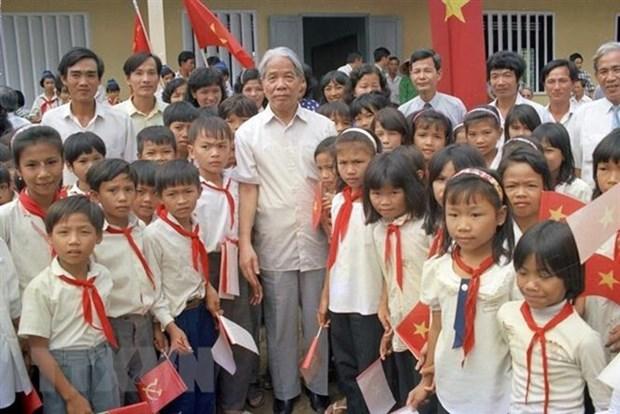 Deces de l'ancien SG du PCV Do Muoi : message de condoleances du Laos hinh anh 1