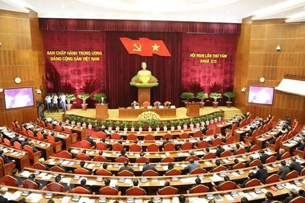 Le 8e Plenum du CC du PCV : premier jour de travail hinh anh 1