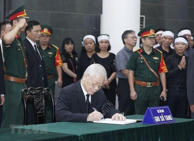 L'ancien secretaire general Do Muoi souvenu avec des eloges hinh anh 1