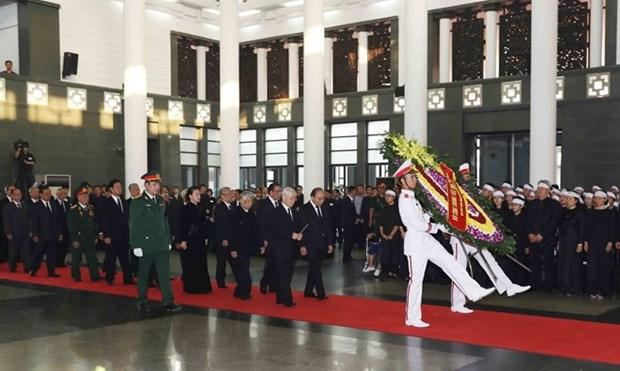 Le Vietnam rend hommage a l'ancien secretaire general Do Muoi hinh anh 1