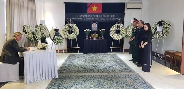 A l'etranger, hommage a l'ancien secretaire general Do Muoi hinh anh 1