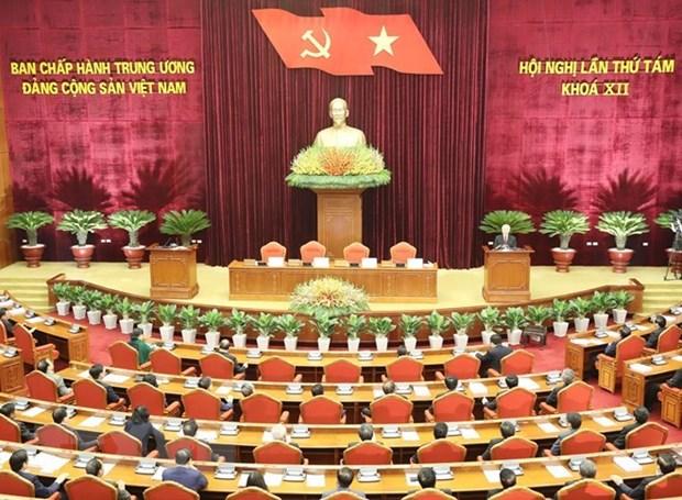 Cloture du 8e Plenum du Comite central du PCV du 12e mandat hinh anh 1
