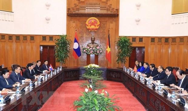 Le PM laotien souligne les contributions de l'ancien secretaire Do Muoi aux relations bilaterales hinh anh 1
