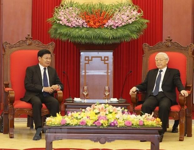 Le Vietnam prend en consideration les relations speciales avec le Laos hinh anh 1