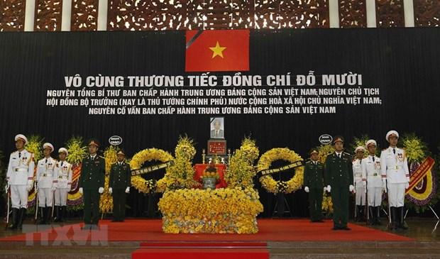 Ceremonie commemorative de l'ancien secretaire general du PCV Do Muoi hinh anh 1