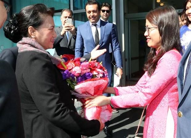 La presidente de l'Assemblee nationale arrive en Turquie hinh anh 1