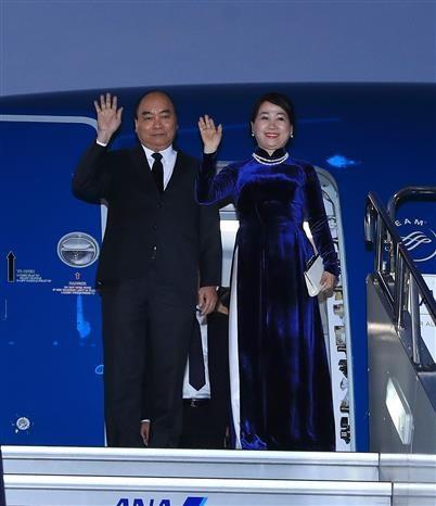 Le PM arrive a Tokyo pour le 10e Sommet Mekong-Japon et une visite au Japon hinh anh 1
