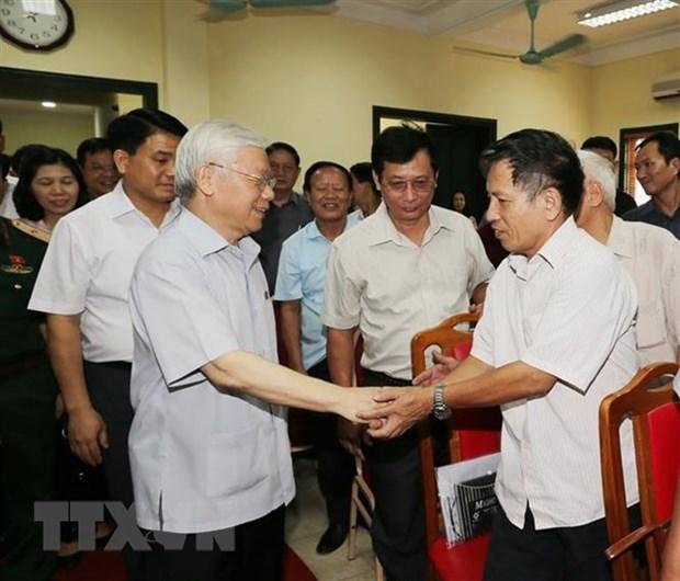 Le chef du Parti souligne la lutte contre la corruption hinh anh 1