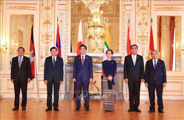 Le Premier ministre Nguyen Xuan Phuc participe au 10e Sommet Mekong-Japon hinh anh 1