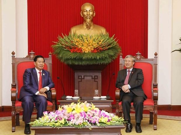 Un haut responsable du PCV recoit le gouverneur de Vientiane hinh anh 1