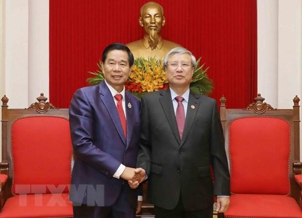 Des dirigeants vietnamiens plaident pour les liens accrus avec Vientiane hinh anh 1