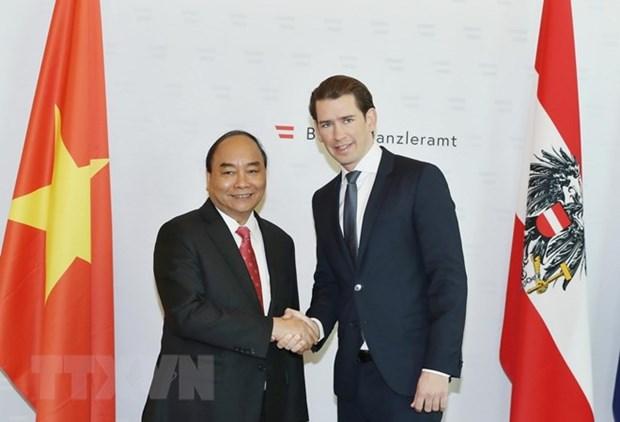 Vietnam-Autriche : entretien entre le PM Nguyen Xuan Phuc et le chancelier Sebastian Kurz hinh anh 1