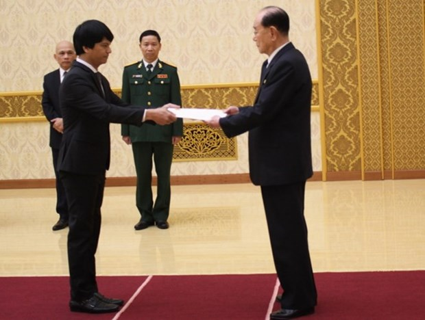 L'ambassadeur vietnamien en RPDC presente ses lettres de creance hinh anh 1