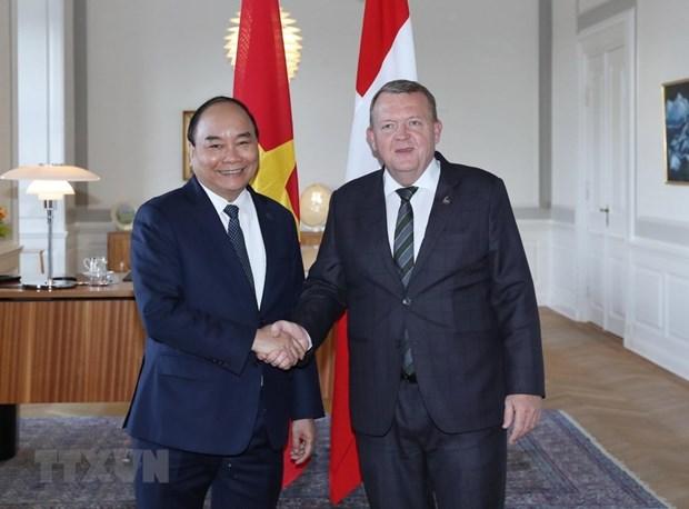 Le Vietnam et le Danemark publient une declaration commune hinh anh 1