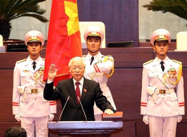 Des dirigeants etrangers felicitent le nouveau president Nguyen Phu Trong hinh anh 1
