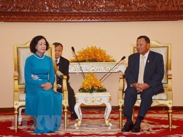 Le Vietnam et le Cambodge renforcent leurs liens politiques et parlementaires hinh anh 1