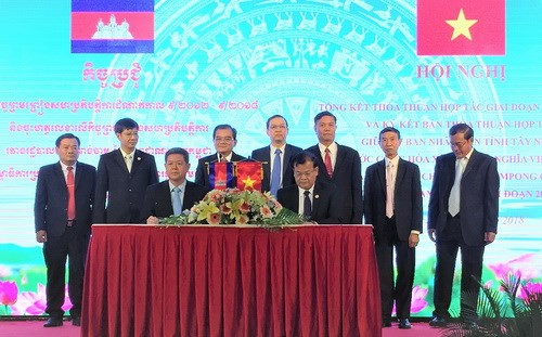 Tay Ninh et Kampong Cham signent une convention de cooperation pour 2018-2022 hinh anh 1