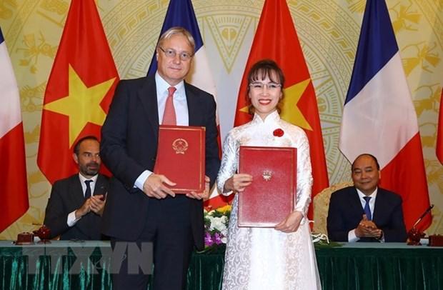 Vietjet signe un contrat d'achat de 50 avions Airbus hinh anh 1