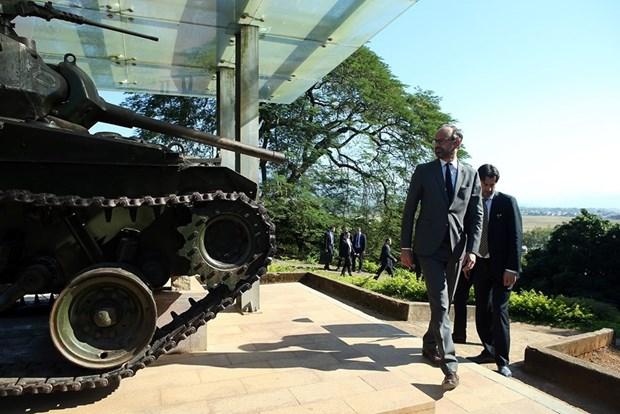 Le Premier ministre francais Edouard Philippe a Dien Bien Phu hinh anh 2