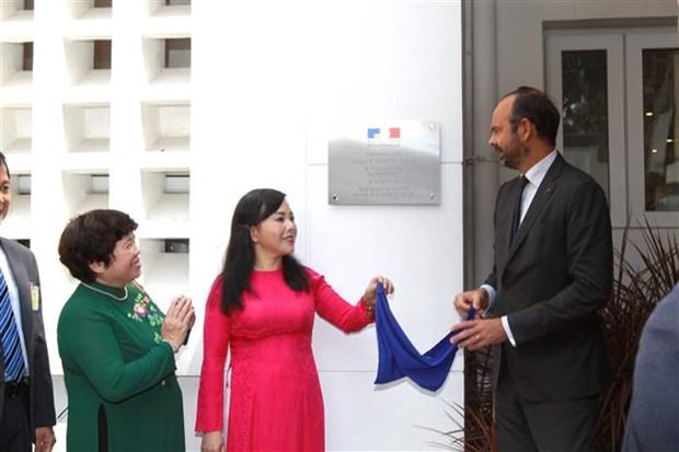 Le PM francais inaugure le Pole France Sante a Ho Chi Minh-Ville hinh anh 1