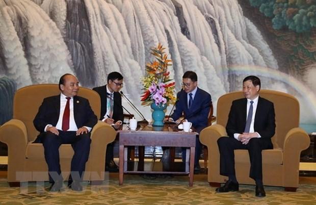 Le Premier ministre Nguyen Xuan Phuc recoit le maire de Shanghai hinh anh 1