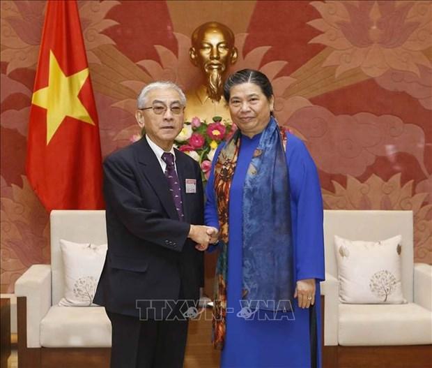 La vice-presidente permanente de l'AN Tong Thi Phong recoit des anciens deputes japonais hinh anh 1
