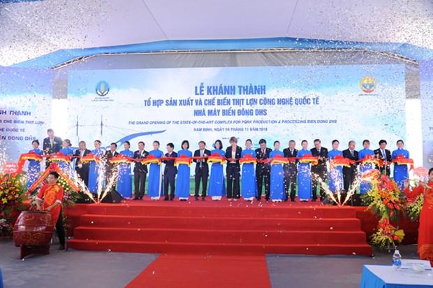 Inauguration d'un complexe de transformation de viande porcine pour l'exportation a Nam Dinh hinh anh 1