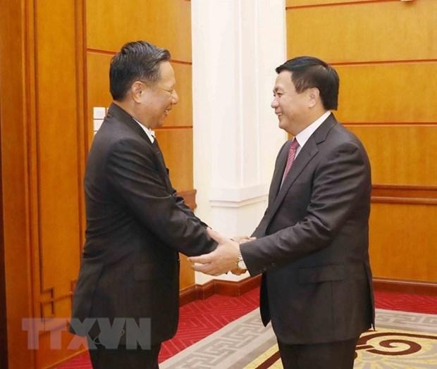 Vietnam et Laos renforcent la cooperation entre les deux Conseils theoriques hinh anh 1