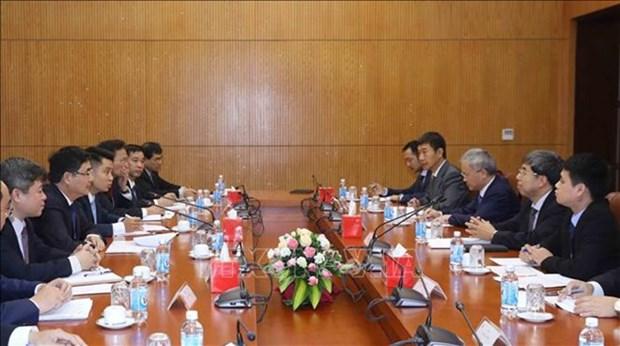 Renforcement de la cooperation entre le PCV et le Conseil des Affaires d'Etat de Chine hinh anh 1