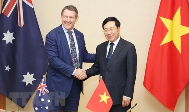 Le vice-PM Pham Binh Minh recoit le ministre en chef du Territoire du Nord d'Australie hinh anh 1