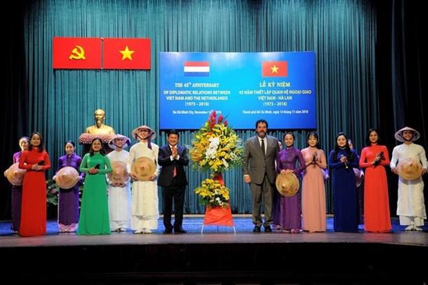 Ho Chi Minh-Ville fete les 45 ans des relations Vietnam – Pays-Bas hinh anh 1