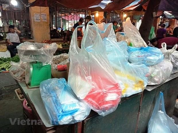 Hanoi s'efforce de reduire l'utilisation de sacs en plastique hinh anh 1